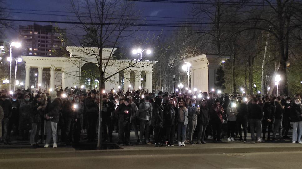 Правил дорожного движения митингующие не нарушали
