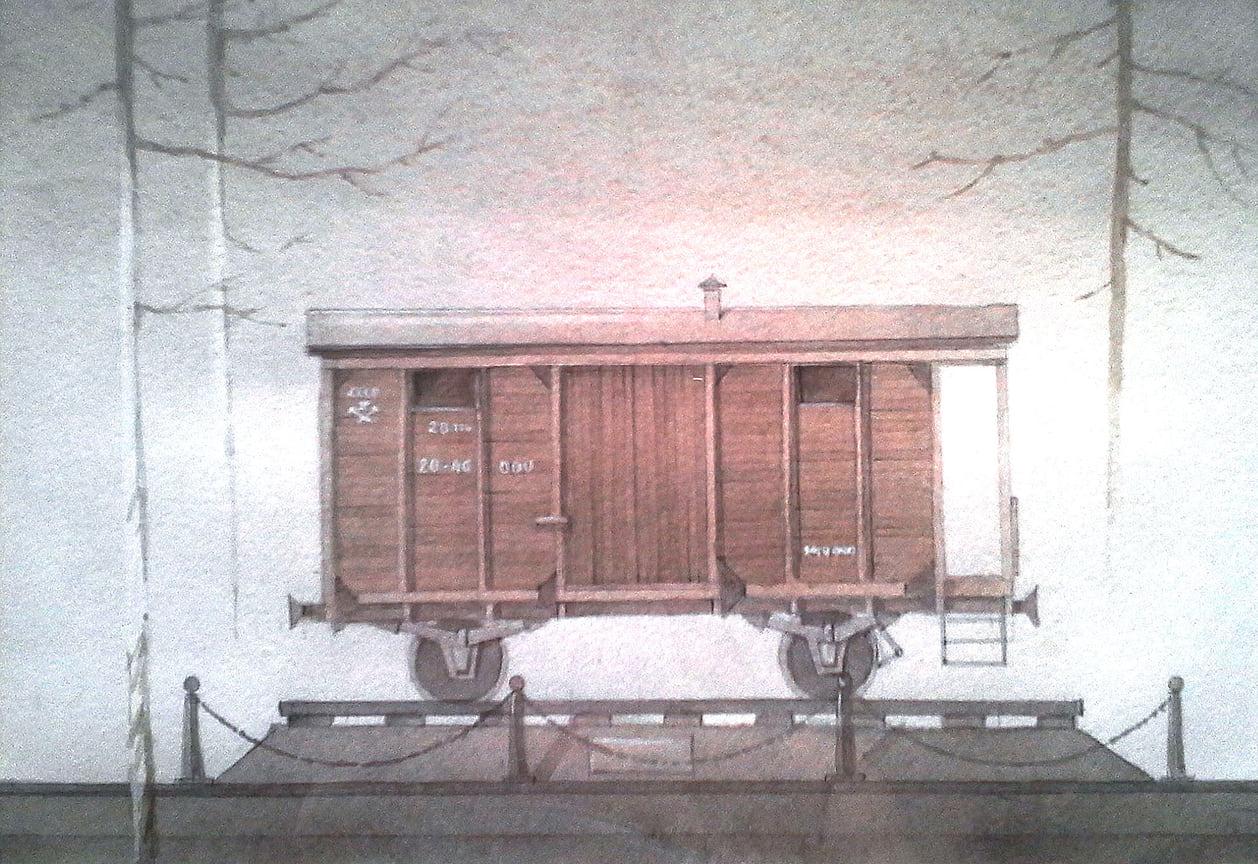 Проект памятного знака «Вагон» в память о депортации крымских татар из Крыма. Установлен на станции «Сирень» Республики Крым. Является частью мемориального комплекса, который  в настоящий момент создается.