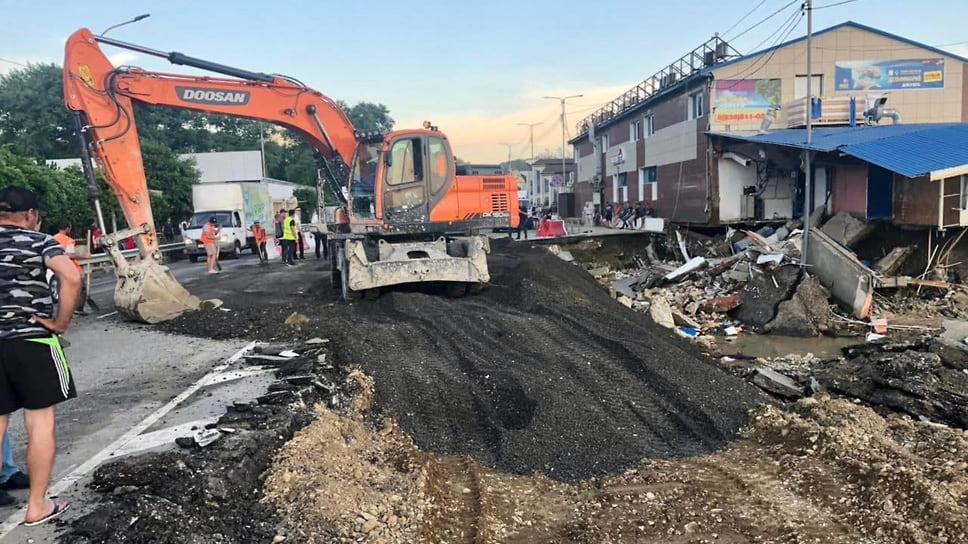 6 июля. На трассе в селе Лермонтово уже открыто двухполосное движение