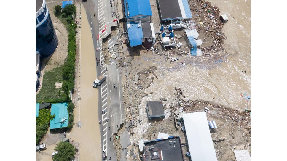 Лермонтово, 6 июля. Хорошо виден масштаб ущерба, нанесенный стихией