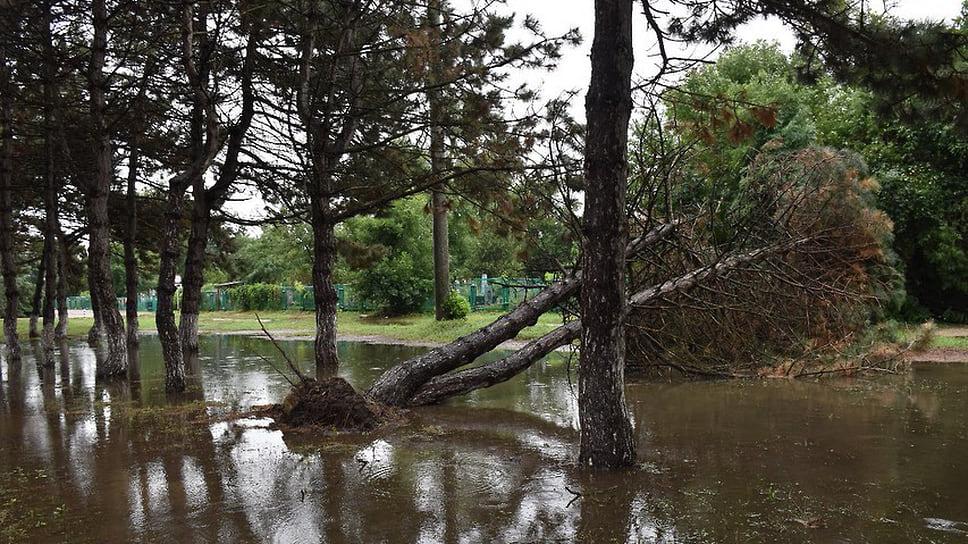 Август 2021 г. Последствия проливных дождей, обрушившихся на город Темрюк 12-14 августа