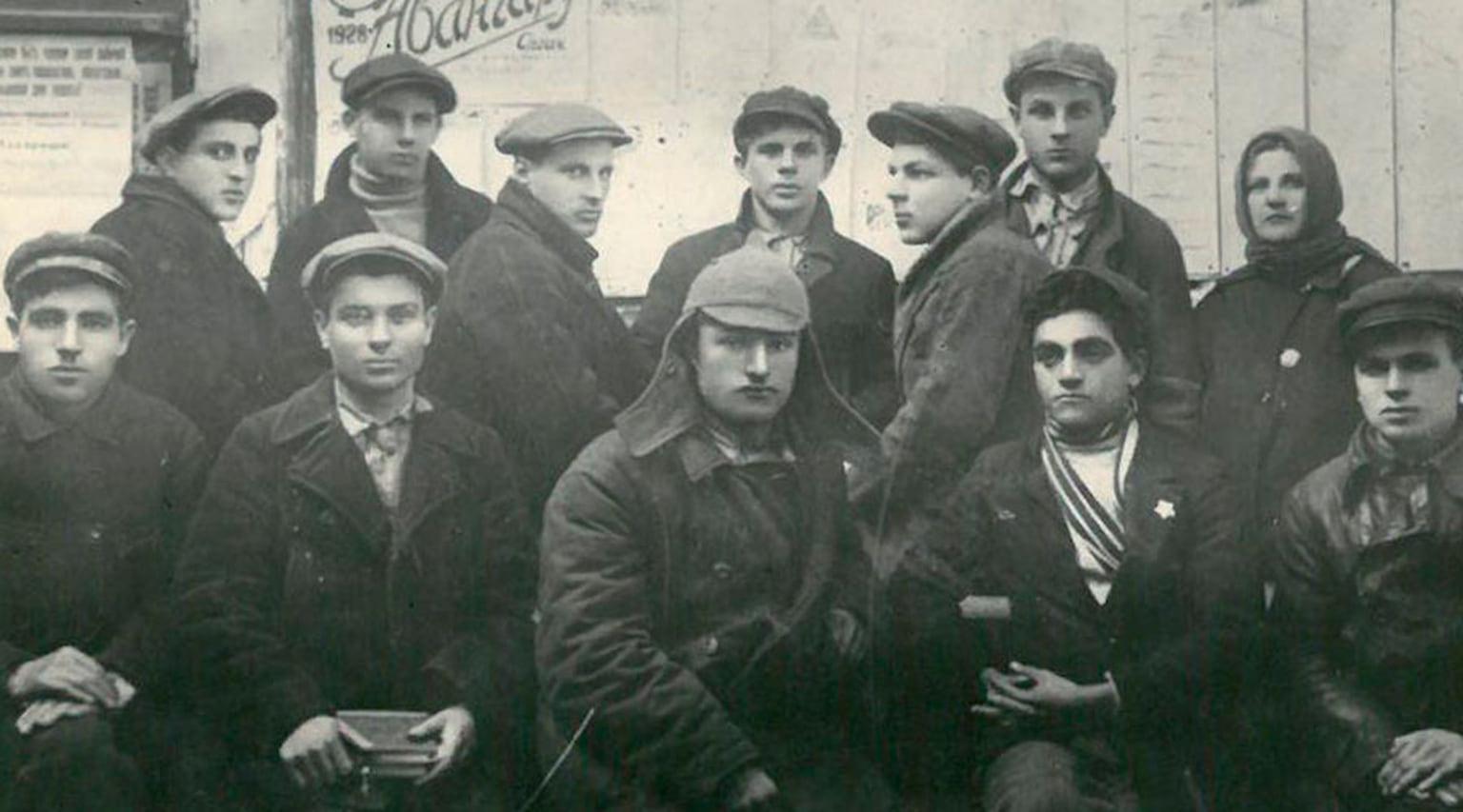 1928. Комсомольский актив КСМ организации Новороссийскогопорта