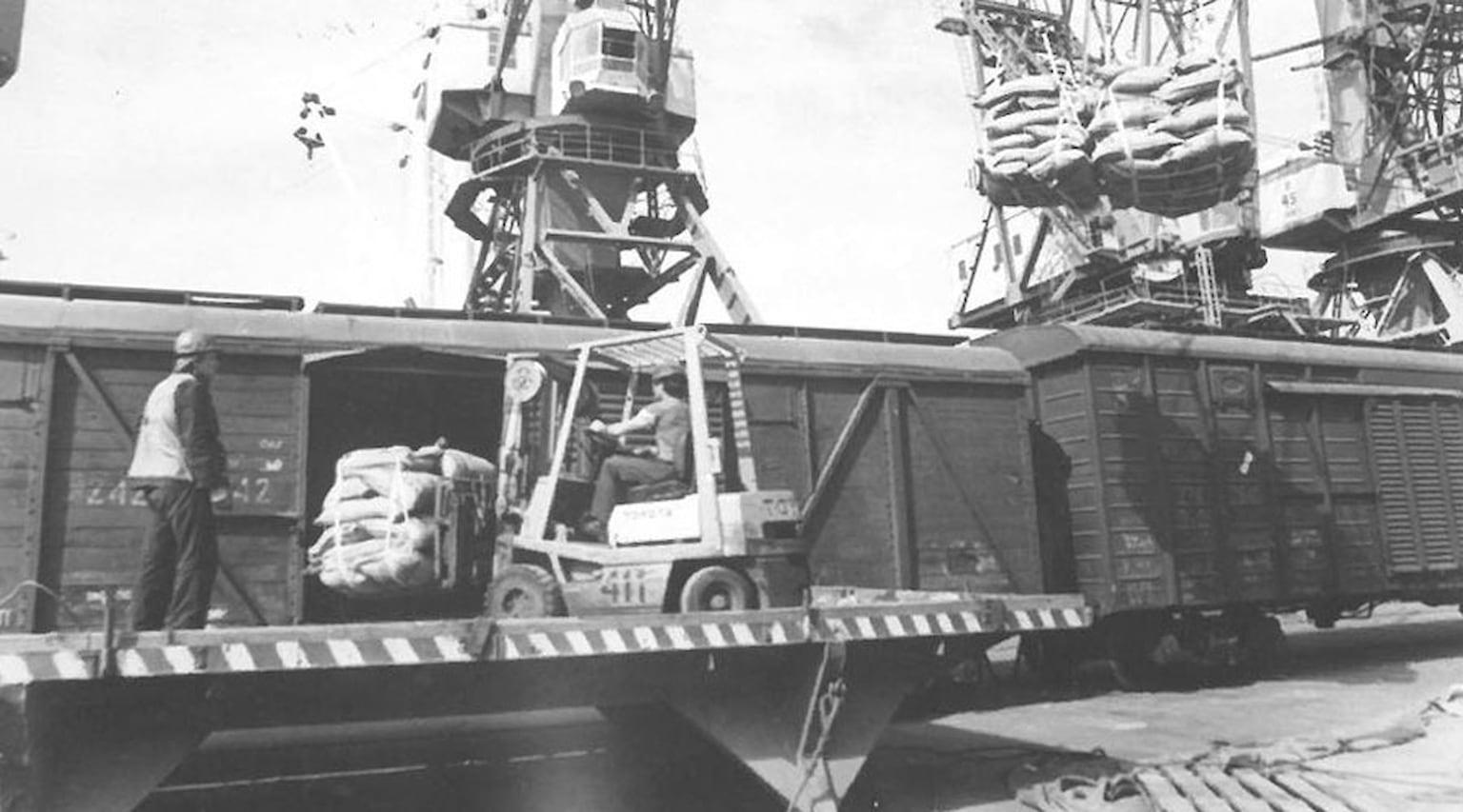 1984. Сахар-песок в строп-контейнерах из Бразилии