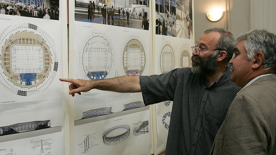 Футбольный гиперболоид / Градостроительный совет утвердил проект стадиона на Стрелке