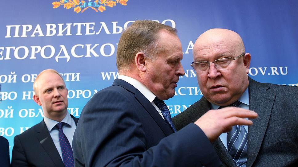 Губернатор Валерий Шанцев (справа) и министр сельского хозяйства Алексей Морозов (в центре) рассчитывают, что ННПП (слева – гендиректор компании Томас Норгард) полностью покроет потребности региона в свинине