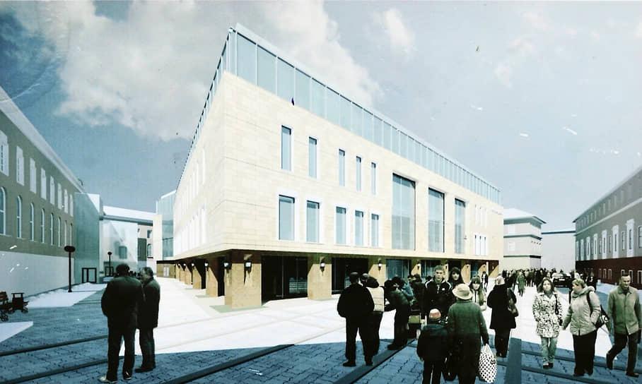 Проект строительства нового здания Мытного рынка, разработанный творческой мастерской архитектора Виктора Быкова