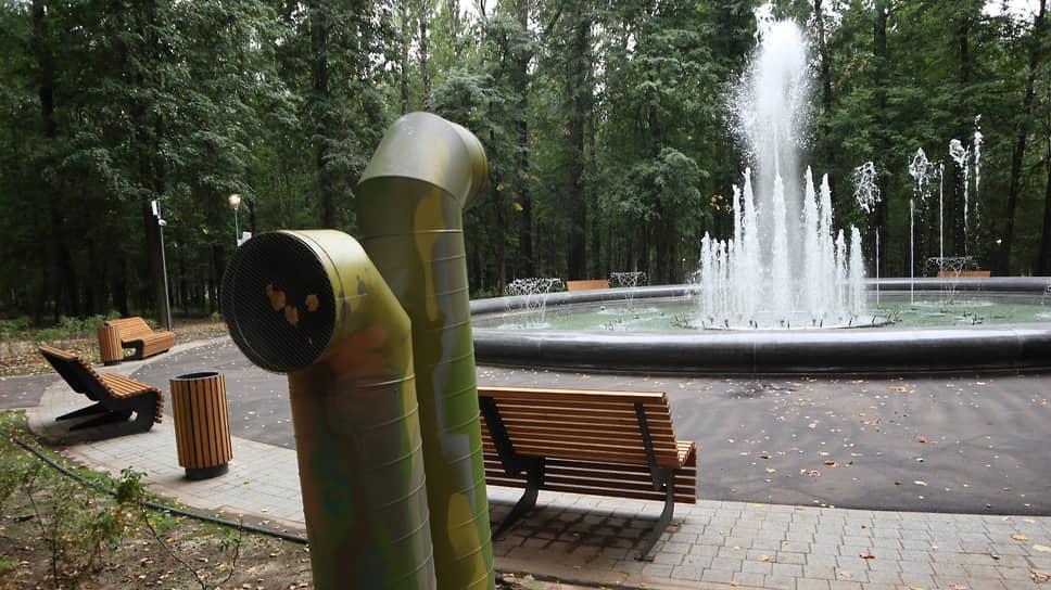 Из новшеств посреди парка появился фонтан