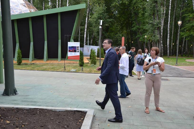Глеб Никитин осмотрел парк за пару часов до его открытия