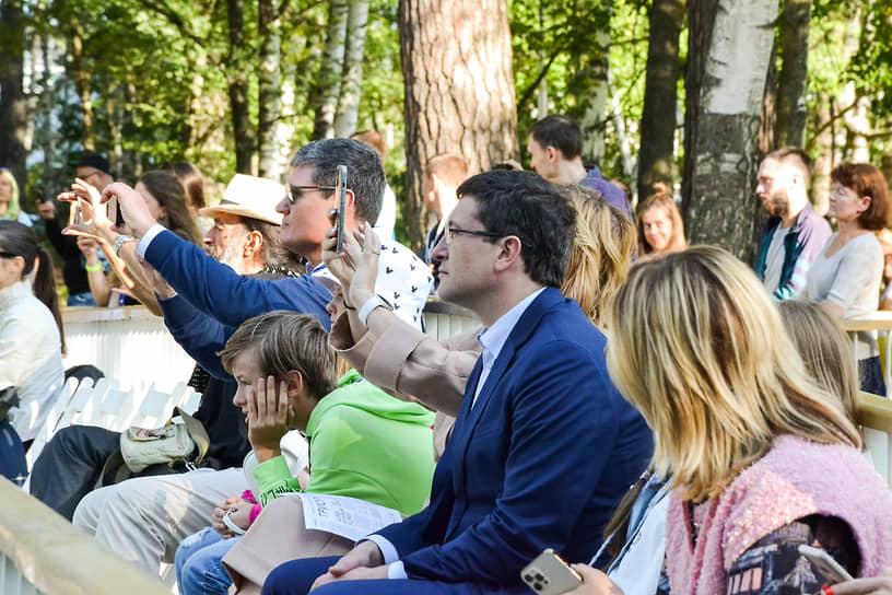 Губернатор Нижегородской области Глеб Никитин привез на фестиваль всю семью
