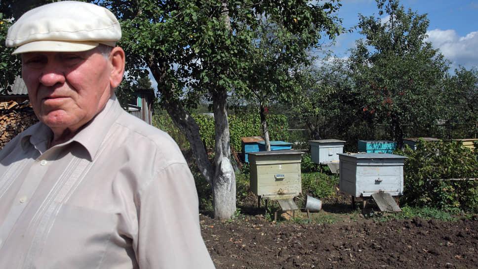 Пчеловод на своей пасеке, 2010 год