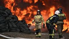 В промзоне Новосибирска произошел пожар