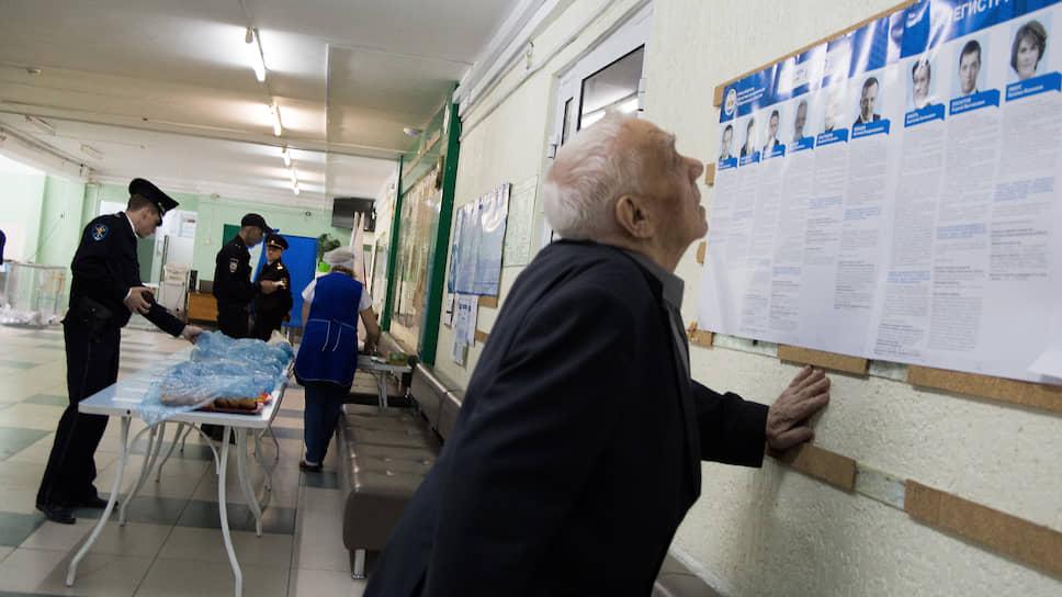 Голосование на выборах мэра Новосибирска 2019 года.