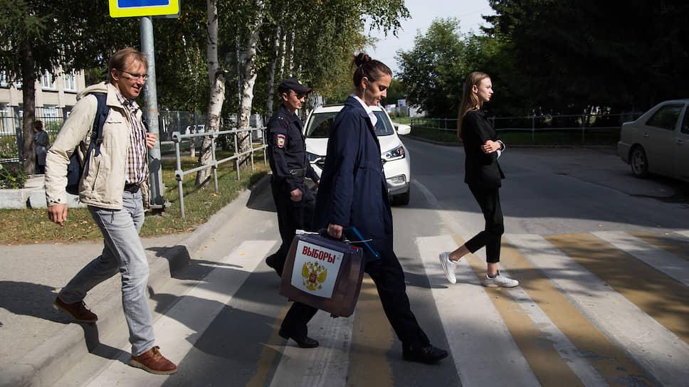 Выездное голосование на выборах мэра Новосибирска