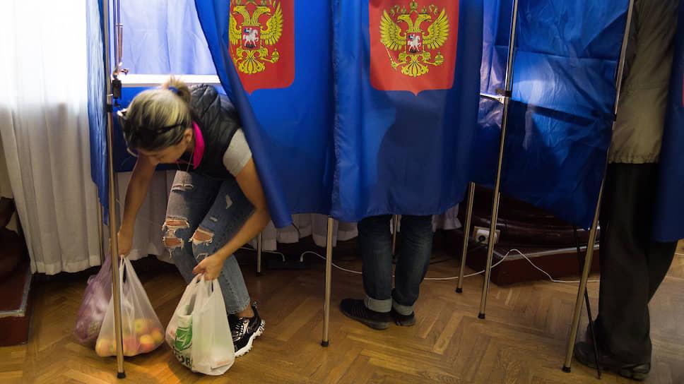 Голосование на выборах мэра Новосибирска