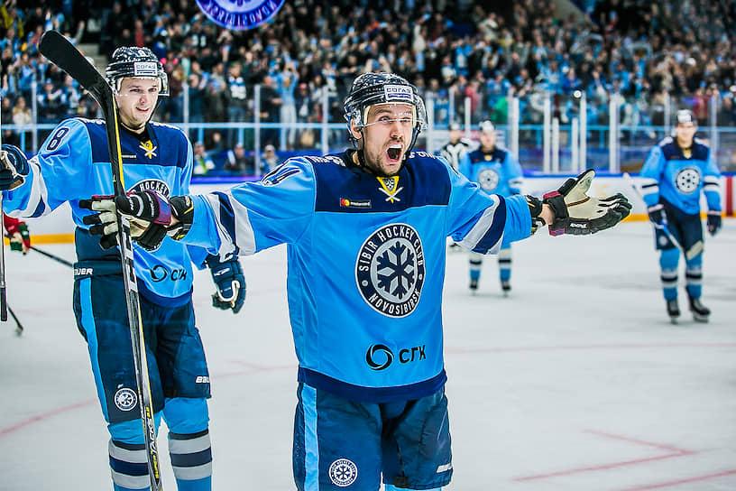 Игрок «Сибири» во время мачта с «Ак Барсом»