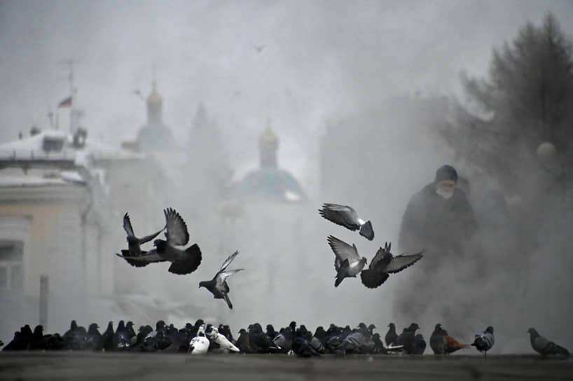 Морозы в Омской области
