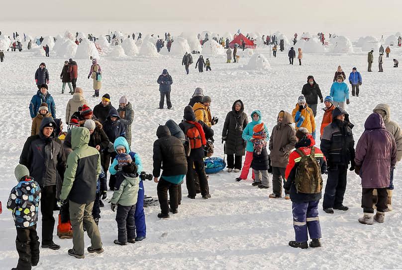 XI ежегодный зимний фестиваль Иглу-2021 «Город эскимосов» в парке у Обского моря