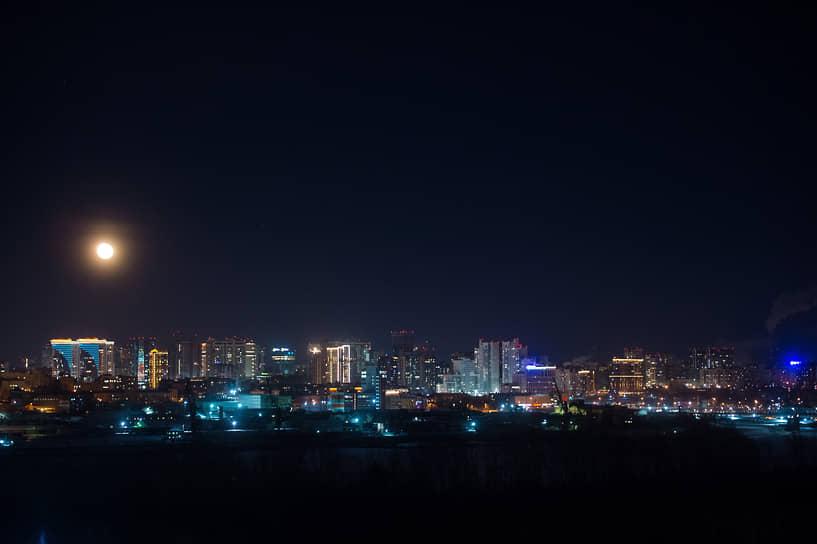 Огни ночного Новосибирска