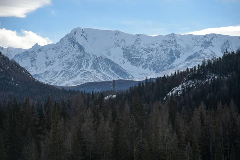 Вид на Северо-Чуйский хребет, ледник Актру