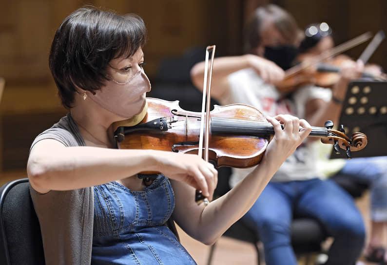 Репетиция Новосибирского академического симфонического оркестра в Новосибирской государственной филармонии