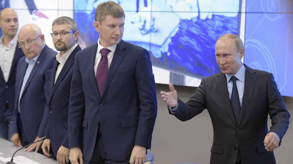 При Максиме Решетникове участились визиты в Пермь федеральных руководителей. Самым резонансным из них стал предвыборный визит президента РФ Владимира Путина.