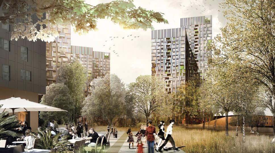 Новый ЖК получил название «Гулливер». Площадь жилых и нежилых объектов — около 180 тыс. кв. м. Название квартала выбиралось на проведенном застройщиком конкурсе.