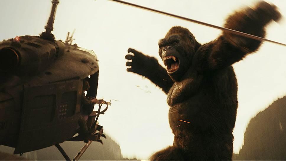В новом фильме Кинг-Конг, вместо того чтобы покорять Нью-Йорк, борется с империалистами на своей территории