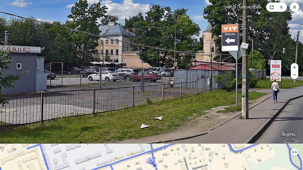Скриншот с ресурса Яндекс-карты. Земля, принадлежащая компании ЮИТ в Пушкинском районе рядом с ЖК INKERI