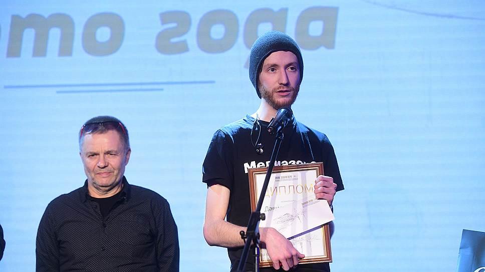 Фотограф Давид Френкель (справа)
