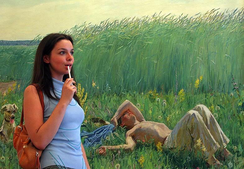 Июль 2006. Выставка живописи художника Аркадия Пластова