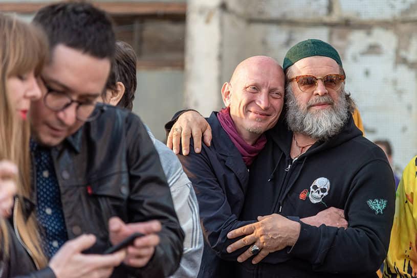 Евгений Федоров и Борис Гребенщиков во время фестиваля