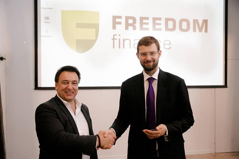 Справа: генеральный директор ИК «Фридом Финанс» Тимур Турлов