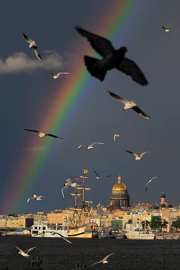 Радуга над Санкт-Петербургом