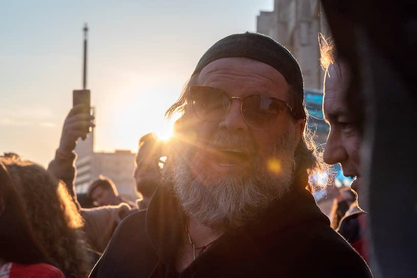 """Лидер группы """"Аквариум"""" Борис Гребенщиков на фестивале """"Стереолето"""""""