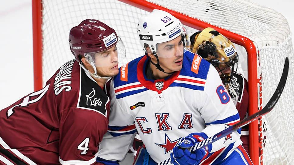 Хоккейный матч между командами СКА (Санкт-Петербург) - Динамо (Рига)
