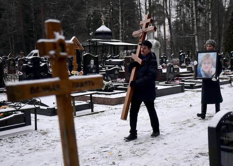 Церемония похорон Людмилы Вербицкой. Погребение на Северном кладбище