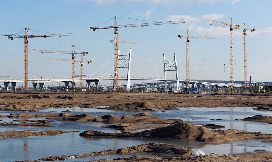 Строительство новых домов на намывных территориях Васильевского острова
