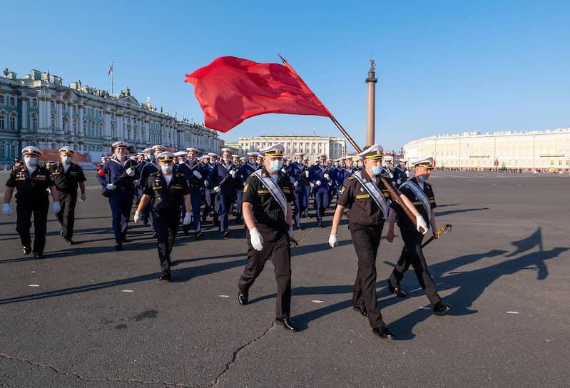 Репетиция парада на Дворцовой площади, посвященного 75-й годовщине Победы в Великой Отечественной войне