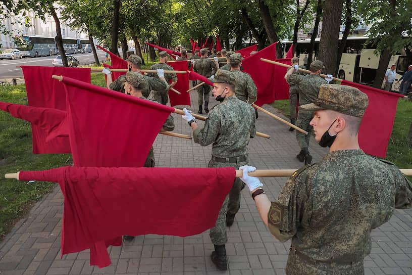 Репетиция парада Победы в честь 75-й годовщины в Великой Отечественной войне
