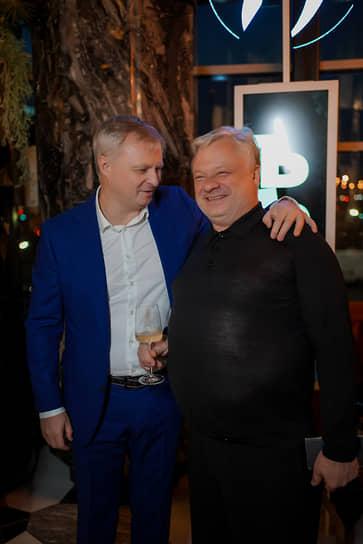 Генеральный директор ИД «Коммерсантъ» Максим Ефимов, петербургский ресторатор Леонид Гарбар