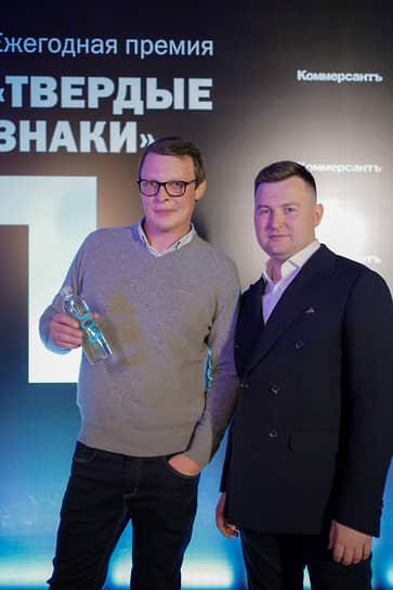 Основатель бренда «8:00» Артем Куркин и глава представительства Du Lac Capital (Switzerland) в Санкт-Петербурге Максим Нозин
