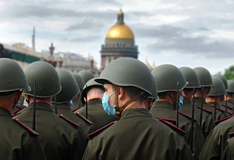 Генеральная репетиция парада на Дворцовой площади, посвященного 75-летию Победы в Великой Отечественной войне