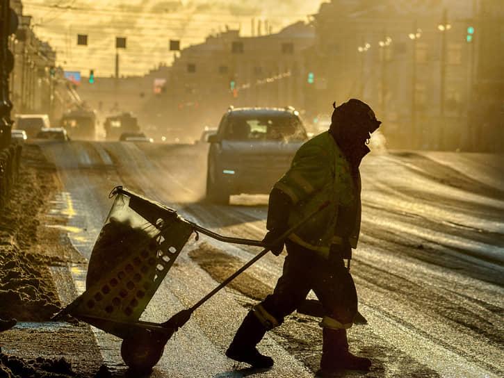 Утро на Невском проспекте