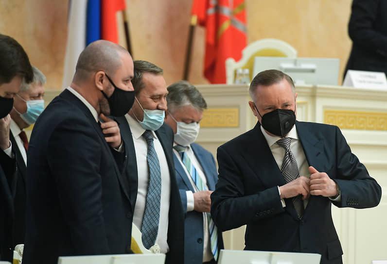 Отчет губернатора Санкт-Петербурга Александра Беглова о работе правительства города за 2020 год в Законодательном собрании Санкт-Петербурга