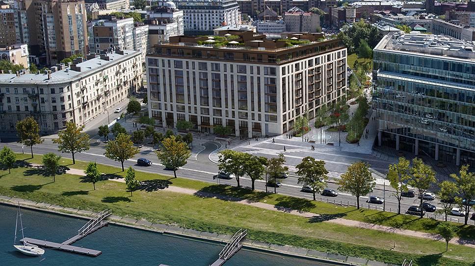Так будет выглядеть элитный клубный дом One Trinity Place на набережной Малой Невки