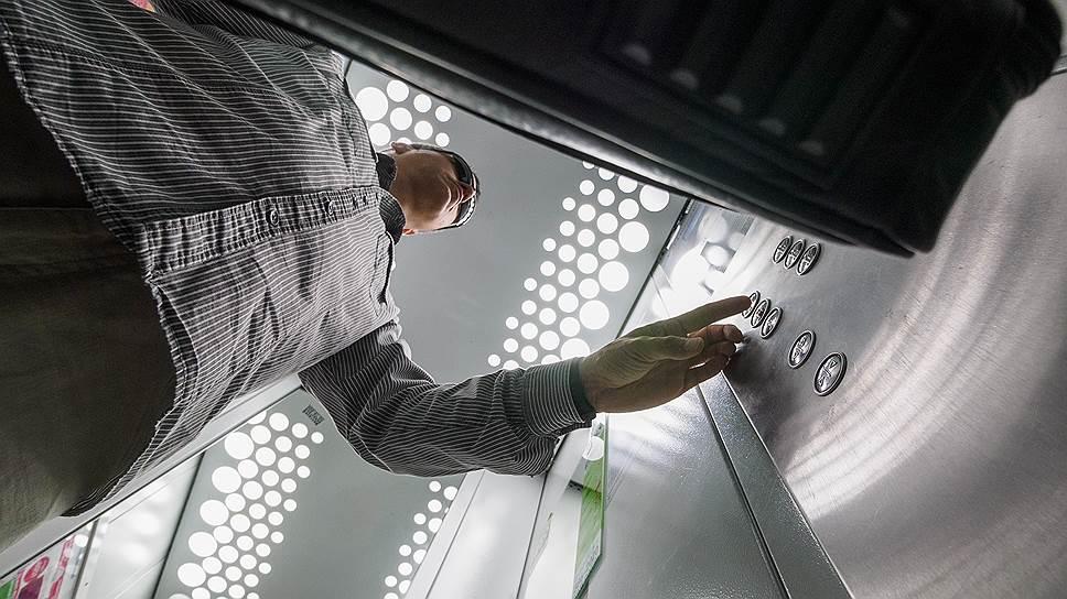 В лифтах домов комфорт-класса обычно ставят светодиодные лампы с датчиками движения