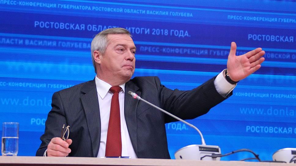 Губернатор вышел на «Арену» / Глава Ростовской области Василий Голубев отчитался о работе за год