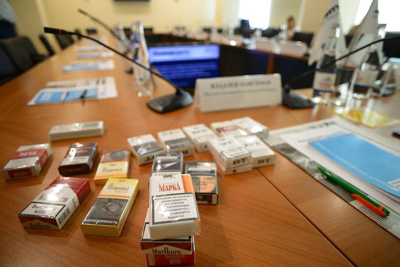 Нелегальные сигареты, приобретенные в рамках проекта «Честный магазин» на Северном рынке и рынке «Шайба» г. Ростова-на-Дону