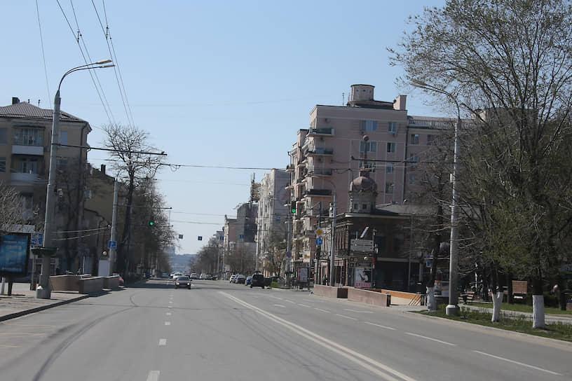Улицы города на карантине