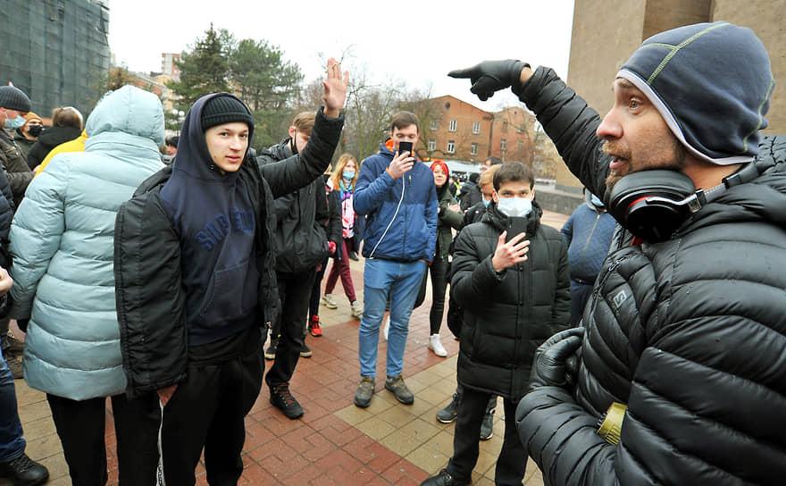 Несанкционированная акция сторонников оппозиционера Алексея Навального в Ростове-на-Дону